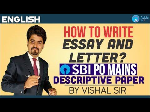 SBI PO MAINS | How to write Essay & Letter? | Descriptive Paper | Vishal Sir