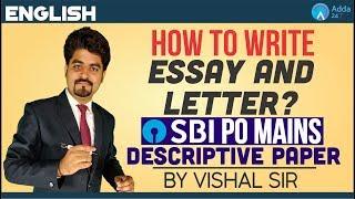 SBI PO MAINS | How to write Essay & Letter? | Descriptive Paper | Vishal Sir thumbnail