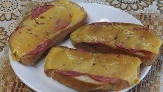 завтрак за 5 минут из колбасы – как приготовить вкусные гренки на сковороде с колбасой и сыром