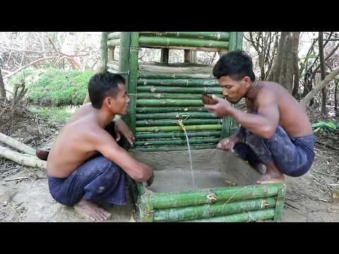 Living Water Filter Bamboo and coal water purifier