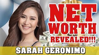 SARAH GERONIMO NET WORTH REVEALED!!!