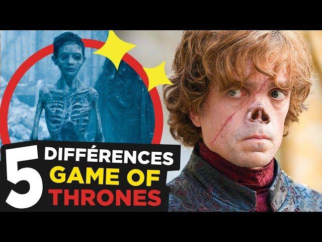 GAME OF THRONES : 5 DIFFÉRENCES AVEC LES LIVRES