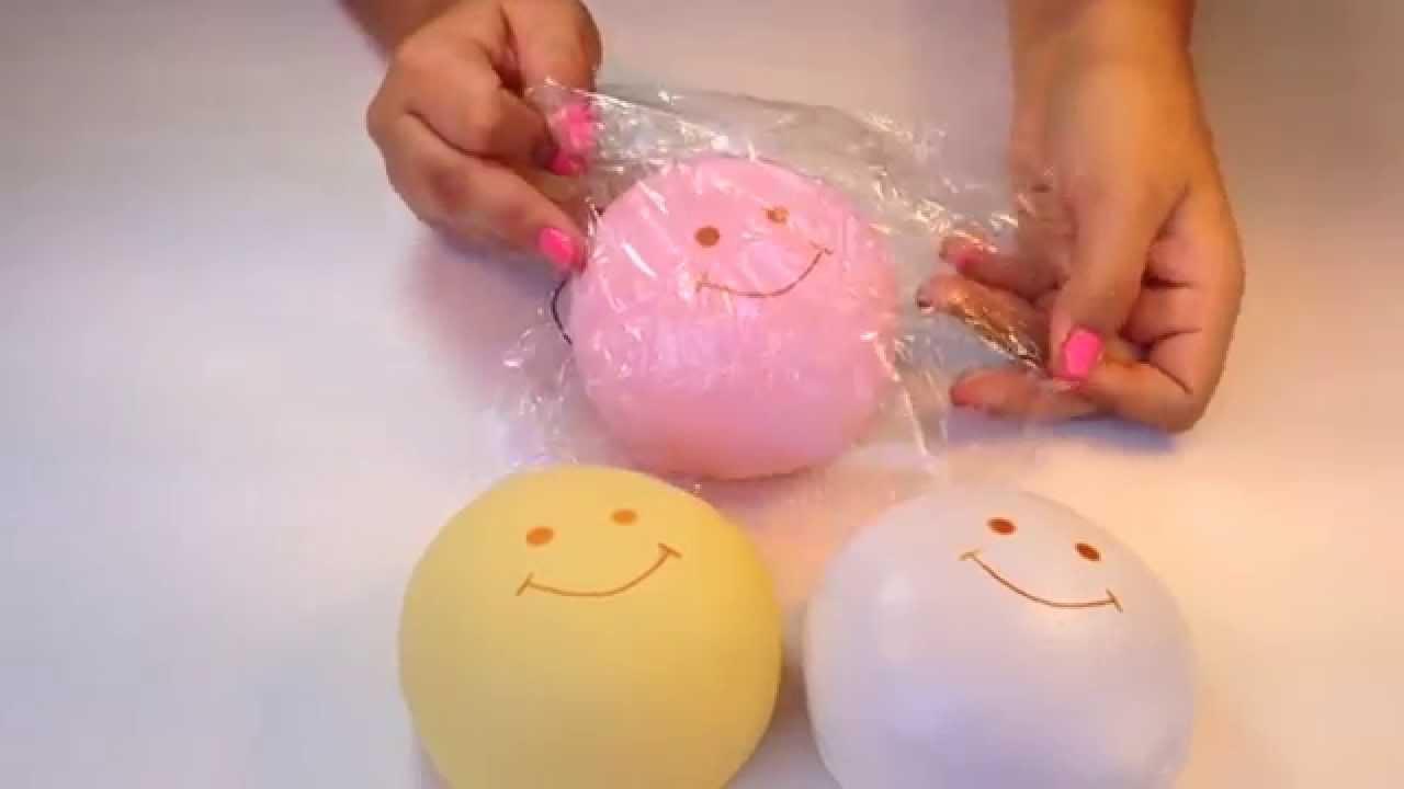 Marshmallow Bun Squishy - YouTube