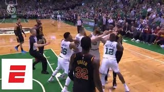 Larry Nance Jr., Marcus Morris get into heated altercation in Game 5 of Cavs vs. Celtics | ESPN