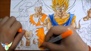 Copic speed draw Dragon Ball ドラゴンボール (wallpaper)
