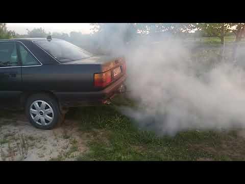 Audi 100 c3 (44)белый дым