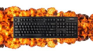 Клавиатура проводная A4Tech KR-85 Black USB. Анбоксинг.