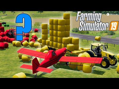 LAND OF COLORS : BALE WALL vs PLANE : Farming Simulator 19 |