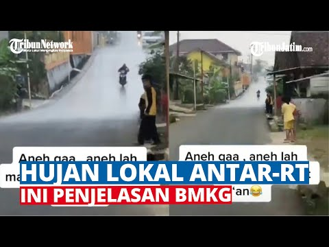 Viral Hujan Lokal Antar RT, Ini Penjelasan BMKG