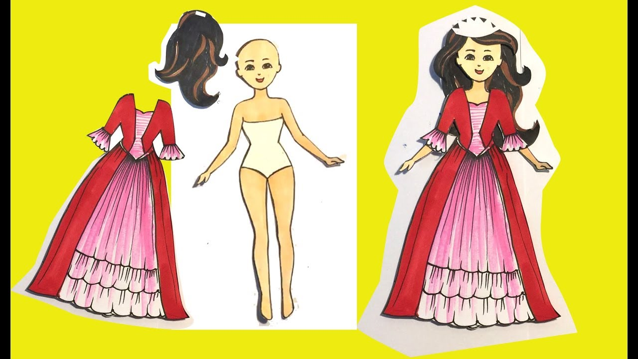 How To Make Clothes With Papers For Paper Dolls Art For Kids Youtube