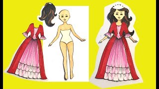 How to make clothes with papers for paper dolls | Art for kids