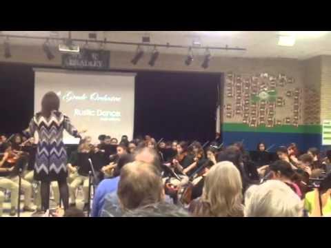 Rustic dance - Bradley middle school six grade orchestra Fall concert