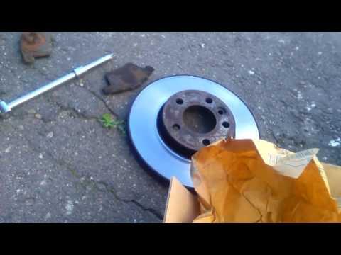 Замена тормозных дисков Т5