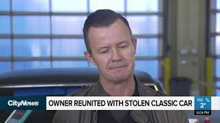 Owner reunited with stolen classic car