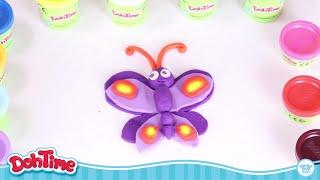 DohTime How to Make Butterfly |خطوة خطوة كيف تصتع فراشة من المعجون