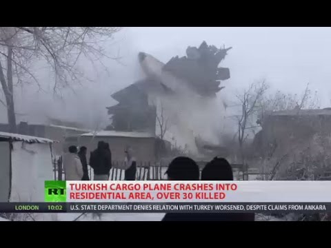 'Huge wave of fire passing by': Turkish cargo plane crashes near Bishkek, Kyrgyzstan