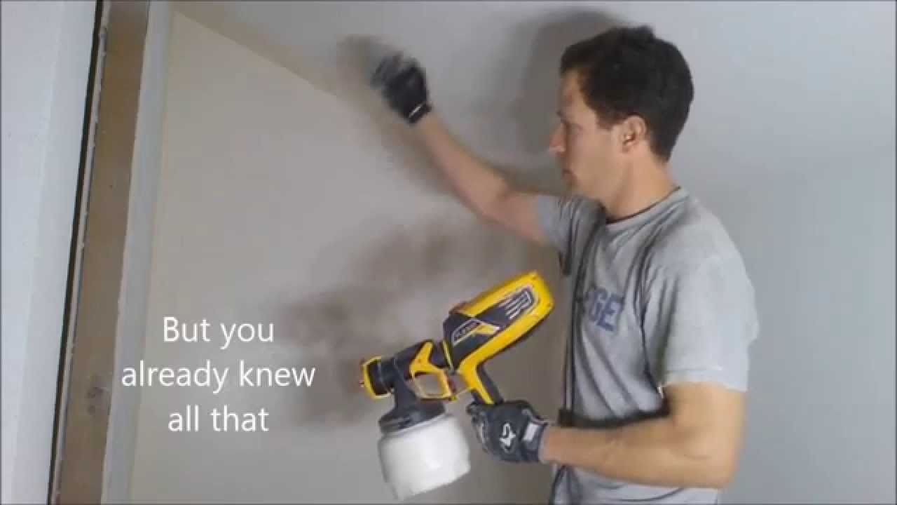 Wagner Flexio 590 Paint Sprayer Demo Tips Review Youtube