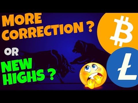 🌟BITCOIN and LITECOIN MORE CORRECTION OR NEWS HIGHS?🌟 btc ltc news, price prediction and trading