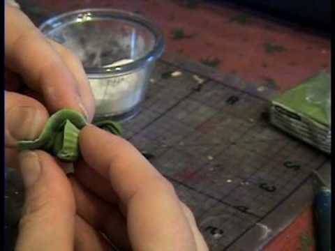 How to Make Lettuce or Cabbage from Polymer Clay for Miniature Dollhouse.  By Garden of Imagination