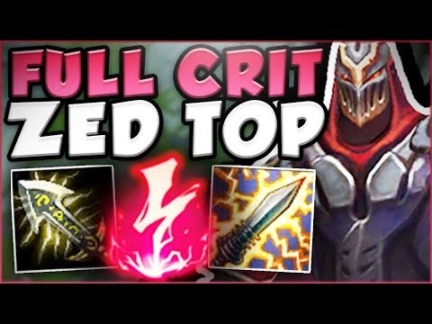 THIS BURST FROM  AD CRIT ZED IS ACTUALLY UNREAL ZED SEASON 8 TOP GAMEPLAY - League of Legends