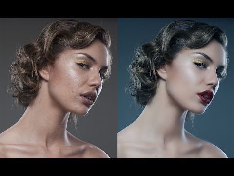 Retouch a bland model portrait in photoshop.