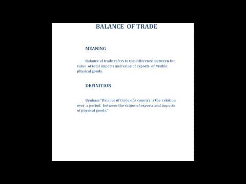 WHAT IS THE  BALANCE OF PAYMENTS?