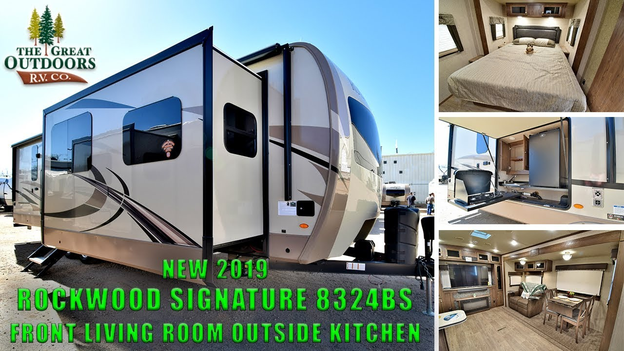 New 2019 Rockwood Signature 8324bs Front Living Outside Kitchen Rv