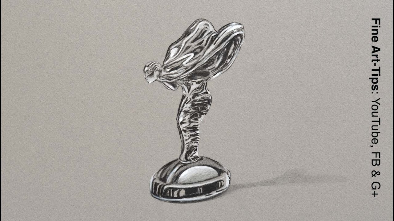 Draw the Spirit of Ecstasy - Rolls Royce Emblem - Chrome ...