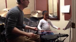 Yuisa M. Davis practicing single stroke roll