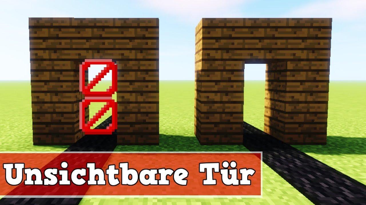 Wie Baut Man Eine Unsichtbare Tur In Minecraft Minecraft