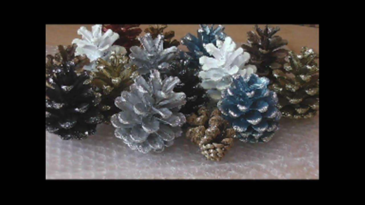 tannenzapfen kiefernzapfen fichtenzapfen weihnachtlich gestalten teil 2 youtube. Black Bedroom Furniture Sets. Home Design Ideas