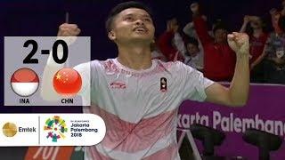 Download lagu INA v CHN - Badminton Tunggal Putra: AS Ginting v Chen Long | Asian Games 2018