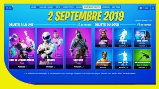 FORTNITE BOUTIQUE of September 2, 2019! Return of the skin rey mysterio!