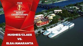 Claes/Hughes (USA) v Elsa/Amaranta (ESP) - FIVB Beach Volley W…