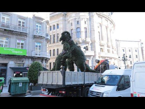 El Dinoseto se muda a la Alameda mientras duren las obras de Porta do Sol