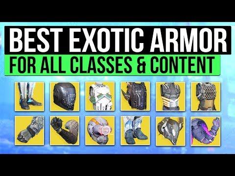 Destiny 2 | BEST EXOTIC ARMOR! - The Best Titan, Hunter & Warlock Exotics! (All Subclasses)