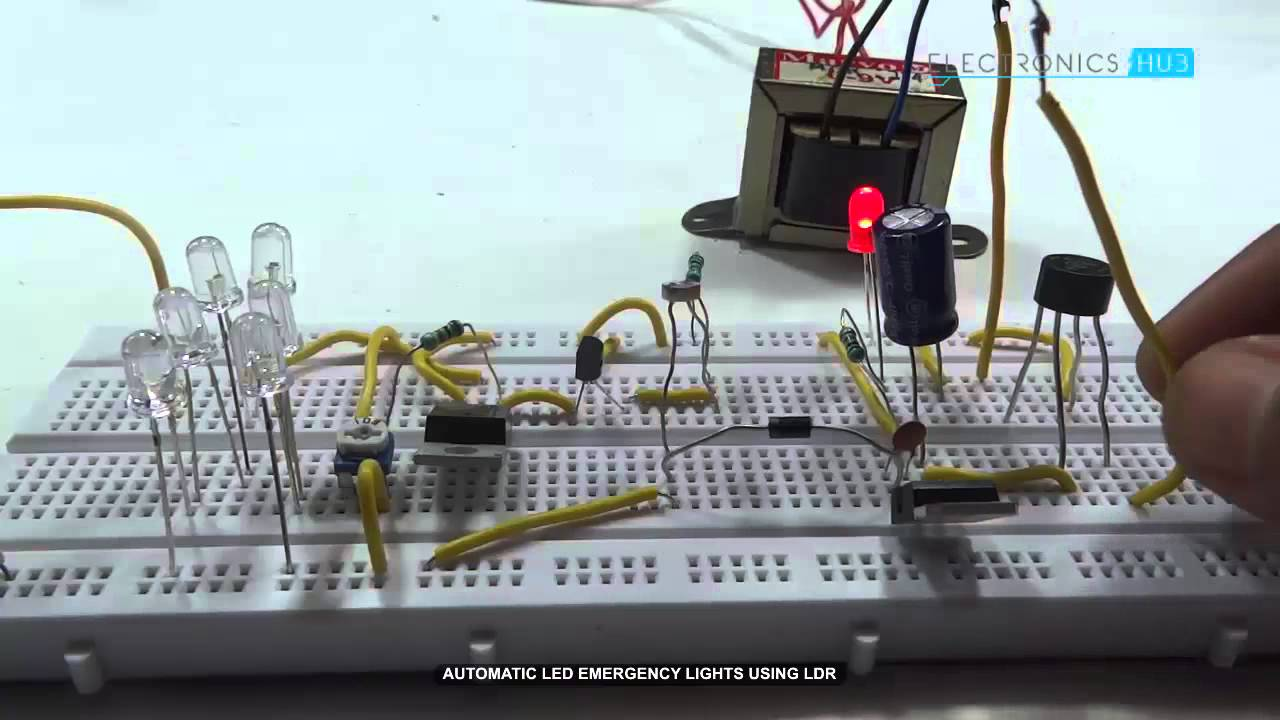 Automatic LED Emergency Lights using LDR - YouTube