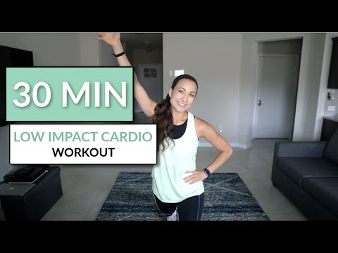 CARDIO for bad knees || low impact aerobics with music for 30 minutes
