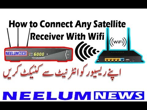 How to Connect Any Satellite Receiver With Wifi Wifi Device Setting to  Digital Satellite Receivers