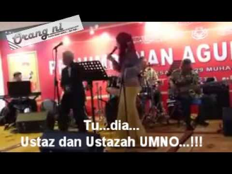 Ustaz UMNO berjoget dan Ustazah UMNO menyanyi