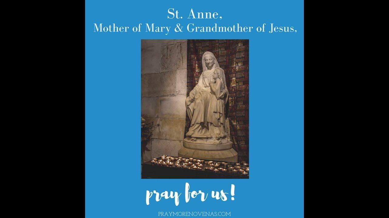 Day 1 - St  Anne Novena 2019 - Novena Prayers - Catholic