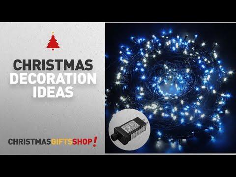 Top Blue Christmas Decorations: Excelvan Safe Low Voltage 500 LEDs 100M/328FT Fairy String Lights