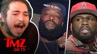 50 Cent Takes A Shot At Rick Ross While He's Hospitalized!   TMZ TV
