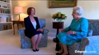 Royal tour of Australia: The Queen receives Prime Minister Julia Gillard - who still doesn