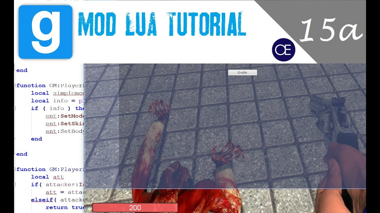 [Gmod] Lua Tutorial 15a: Scoreboards - Parent Editable Panel