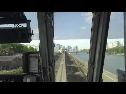 【4K前面展望】東京モノレール 空港快速(羽田空港第2ビル~浜松町) Tokyo Monorail /Airport Rapid(Haneda Airport Hamamatsuc