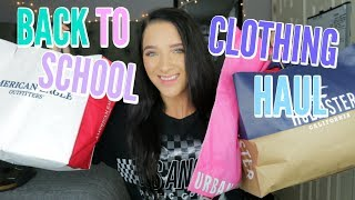 BACK TO SCHOOL TRY ON CLOTHING HAUL 2018