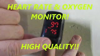 REVIEW  of HYLOGY Heart Rate Monitor and oxygen Monitor with Carrying Bag & Batteries