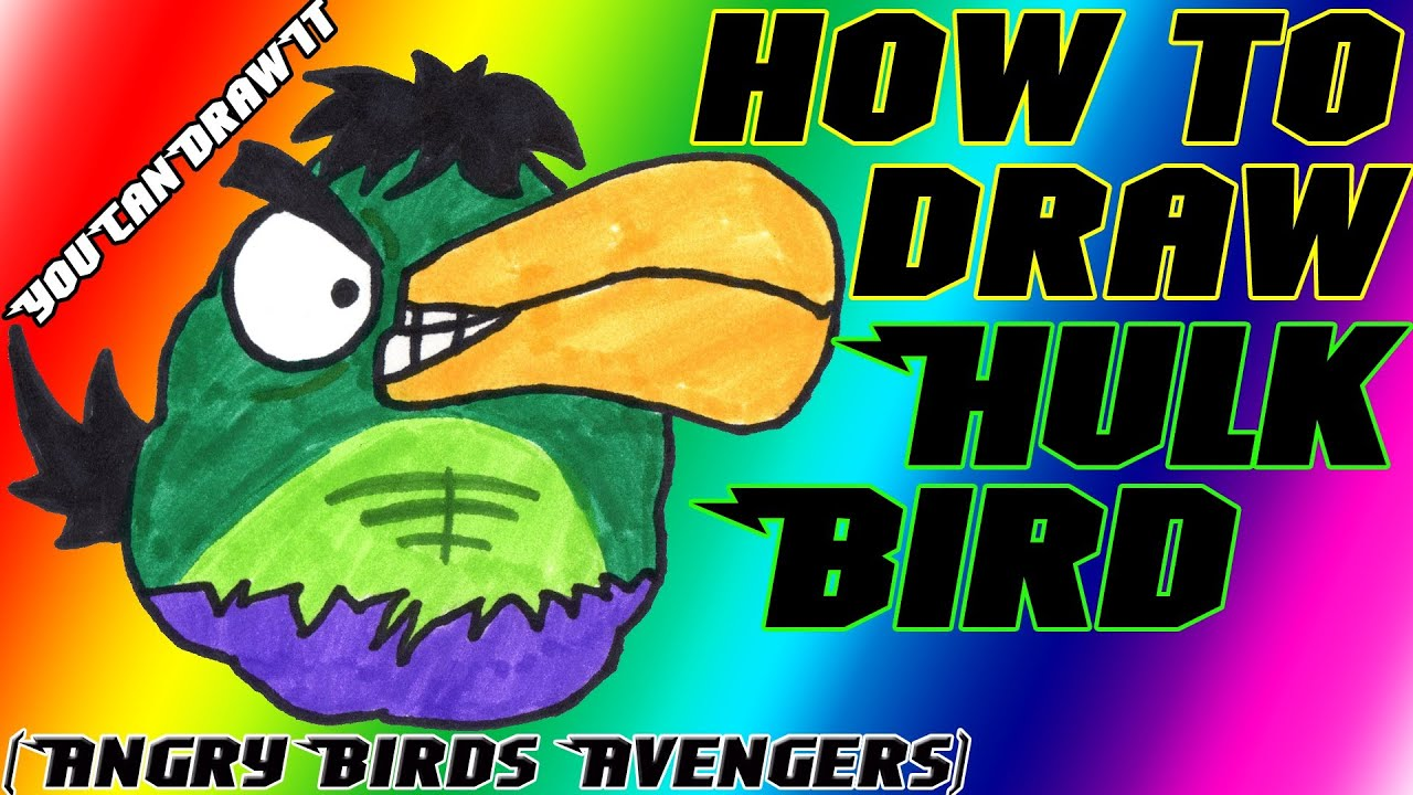 How To Draw Hulk Bird From Angry Birds Avengers