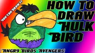 How To Draw Hulk Bird from Angry Birds Avengers ✎ YouCanDrawIt ツ 1080p HD